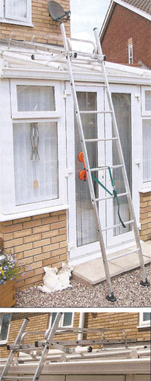 Using a Conservatory Ladder