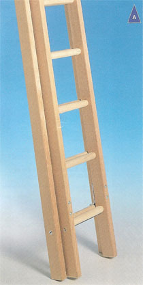 Timber Industrial Ladder